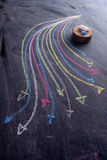 Setas coloridas curvilíneas Fotos de Stock Royalty Free