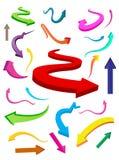 Setas coloridas do negócio & da finança ilustração stock
