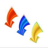Setas coloridas, ilustração do vetor Fotografia de Stock