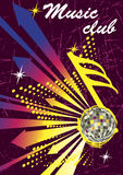 Setas coloridas para o cartaz do clube da música Fundo abstrato da dança Foto de Stock Royalty Free