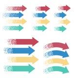 Setas coloridas, ponteiro ilustração do vetor