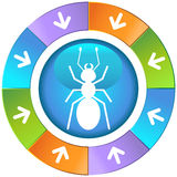 Setas com roda - formiga Foto de Stock Royalty Free