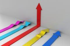 setas 3d Imagem de Stock