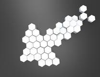 setas 3D Elemento do projeto Imagem de Stock