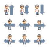 Setas da coleção de arte do pixel Fotografia de Stock Royalty Free
