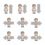 Setas da coleção de arte do pixel Imagens de Stock