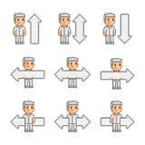 Setas da coleção de arte do pixel Imagem de Stock
