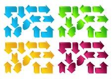 Setas da cor ilustração stock