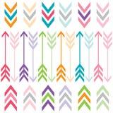 Setas da cor do arco-íris ajustadas Imagens de Stock