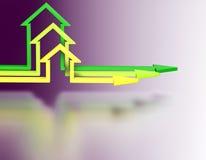 Setas da forma da casa Conceito do negócio Imagens de Stock