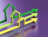 Setas da forma da casa Conceito do negócio Fotografia de Stock Royalty Free