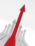 Setas de ascensão Imagens de Stock