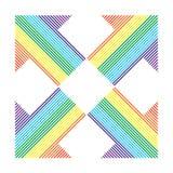 Setas de faixas diferentes da cor ilustração stock