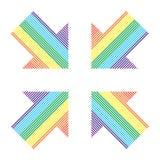 Setas de faixas diferentes da cor Fotografia de Stock