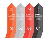 Setas de Infographics Foto de Stock