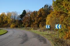 Setas de Roadsign Fotografia de Stock