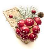 Setas decorativas de la Navidad sobre el fondo blanco Imagenes de archivo