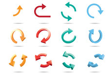 setas do ciclo 3D Imagem de Stock