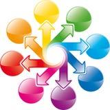 Setas do ciclo do arco-íris ilustração stock