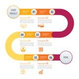 Setas do conceito do negócio do molde do espaço temporal de Infographic Vetor Ca ilustração royalty free