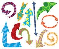 Setas do Doodle Imagens de Stock