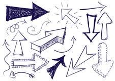 Setas do Doodle Fotos de Stock