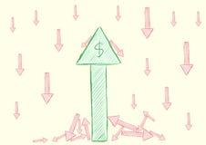 Setas do negócio Foto de Stock