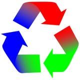 Setas do RGB Colorwheel Fotografia de Stock