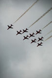 Setas do vermelho de Airshow Imagens de Stock