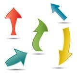 Setas do vetor Imagem de Stock
