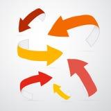 Setas do vetor 3d em cores mornas Foto de Stock