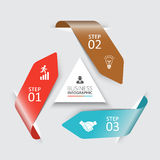 Setas do vetor para infographic Fotografia de Stock Royalty Free