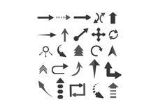Setas dos ícones ajustadas Fotografia de Stock Royalty Free
