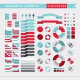 Setas dos elementos de Infographic, sinais, barras, botões, beiras etc. ilustração royalty free