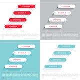 Setas dos elementos de Infographic, sinais, barras, botões, beiras etc. ilustração do vetor