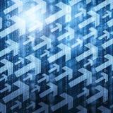 Setas e código binário Fotografia de Stock Royalty Free