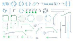Setas e elementos infographic no fundo branco ilustração royalty free