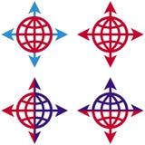 Setas e globo Fotografia de Stock Royalty Free