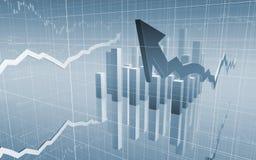 Setas e grade do mercado de valores de acção Imagem de Stock Royalty Free