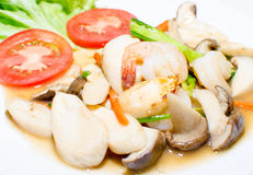 Setas fritas camarón. foto de archivo libre de regalías