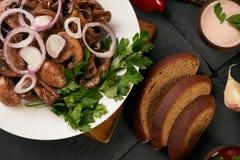 Setas fritas cocinadas Foto de archivo libre de regalías