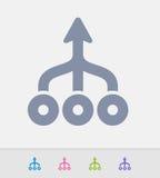 Setas fundidas - ícones do granito ilustração stock