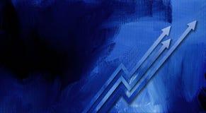 Setas gráficas da carta de crescimento Fotografia de Stock Royalty Free