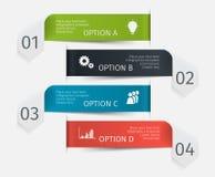 Setas infographic coloridas modernas ajustadas Molde para a apresentação, carta, gráfico Foto de Stock