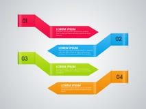 Setas infographic coloridas para o negócio Fotos de Stock