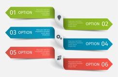 Setas infographic modernas ajustadas Molde para a apresentação, carta, gráfico Ilustração do vetor Imagem de Stock