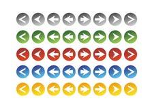 Setas no círculo ilustração stock