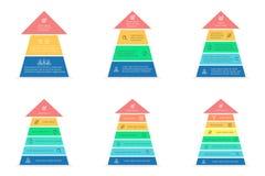 Setas para o infographics Elementos do projeto do vetor Fotografia de Stock