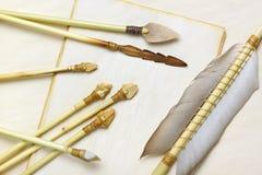 Setas primitivas da caça e da pesca Fotografia de Stock Royalty Free