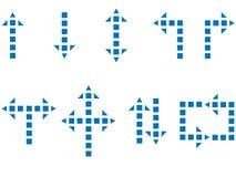 Setas quadradas Foto de Stock